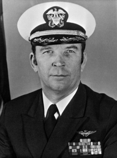 CAPT. Roger E. Box, USN (covered) CO, USS RANGER (CV-61), 1979-1980