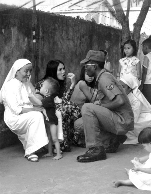 SSGT Reese Goode visits St. Vincent's Orphanage during his tour of duty in Vietnam