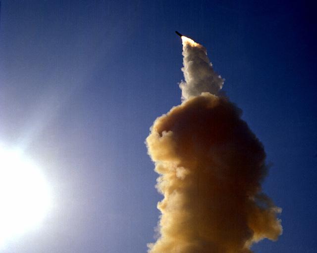 A Minuteman III ICBM test launch
