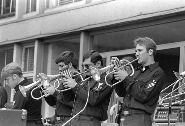 A Navy show band performs during exercise Unitas XX