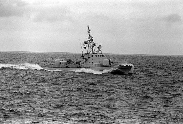A starboard bow view of the Ecuadorian fast attack craft (missile) QUITO (LM-31) underway