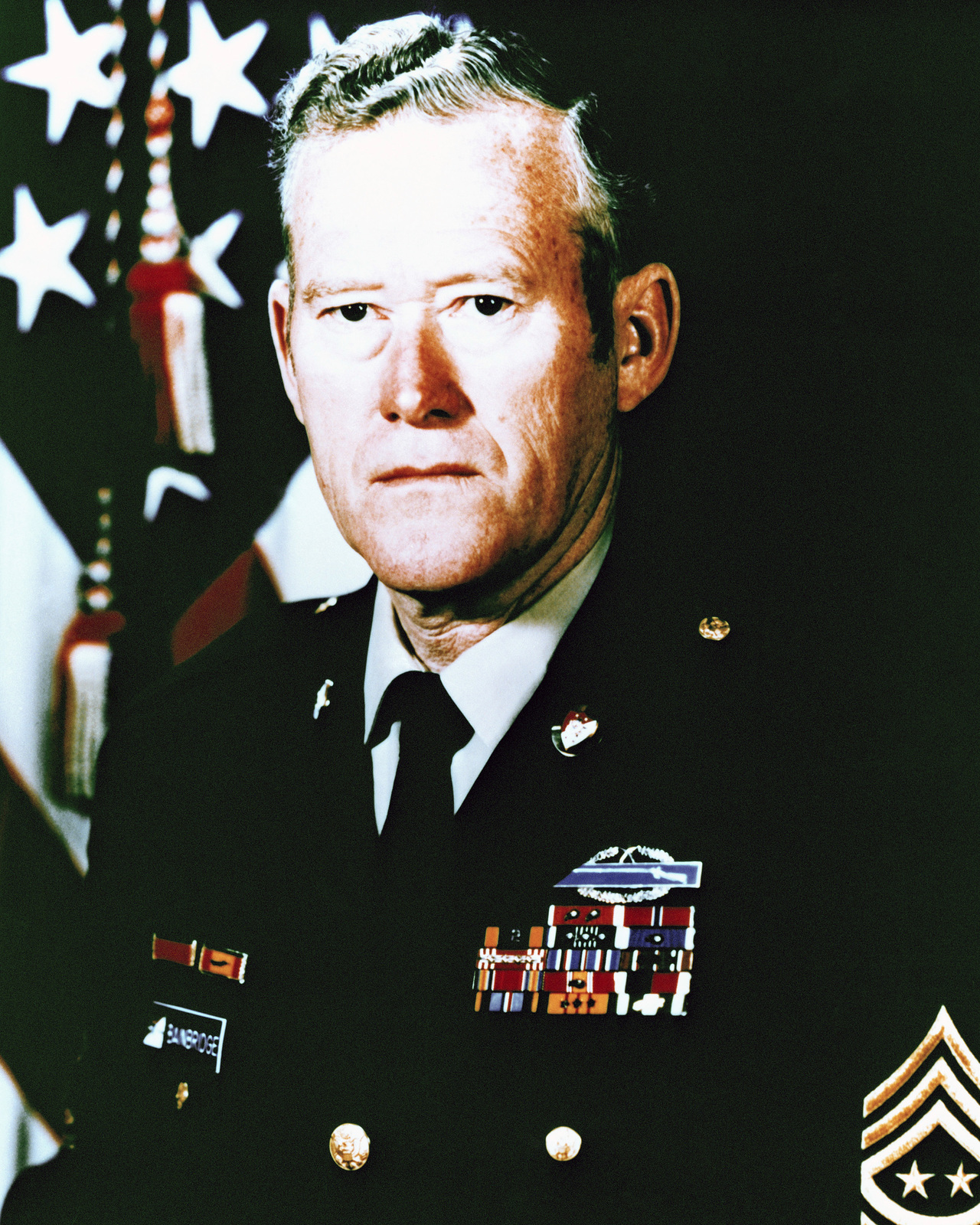Portrait of U S  Army Sergeant Major of the Army William G
