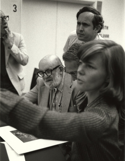 Photograph of Photographer Ansel Adams Visiting the National Archives