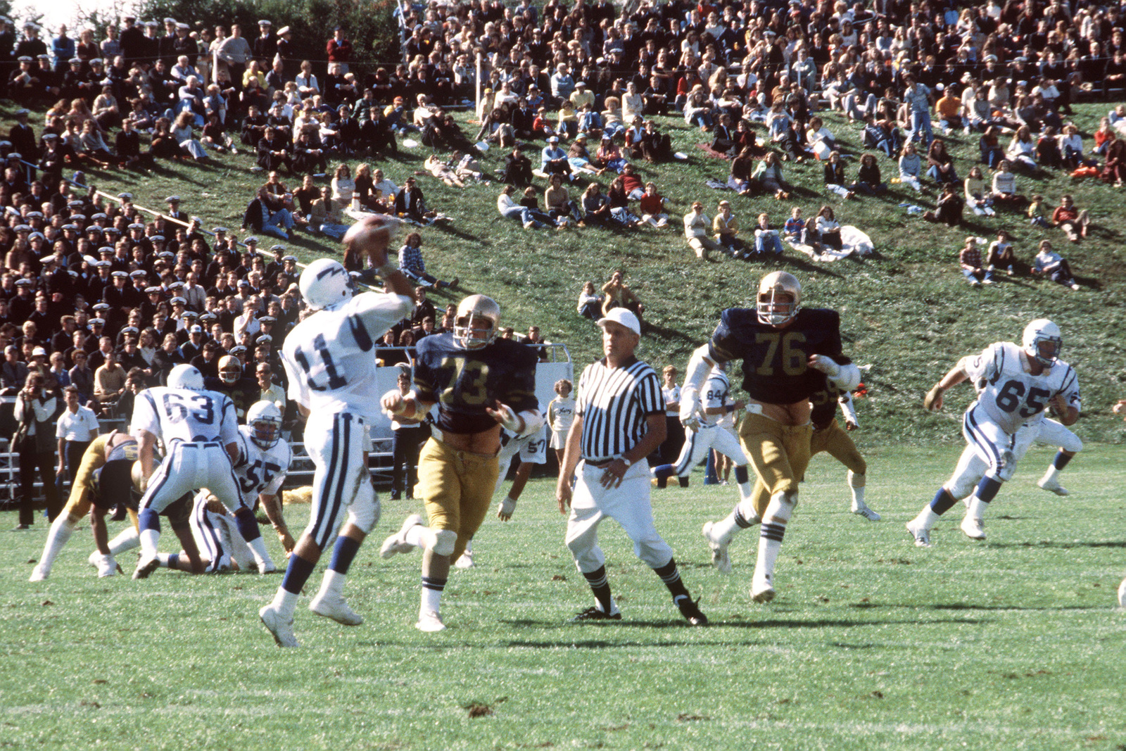 The United States Naval Academy Football Team Plays At The United