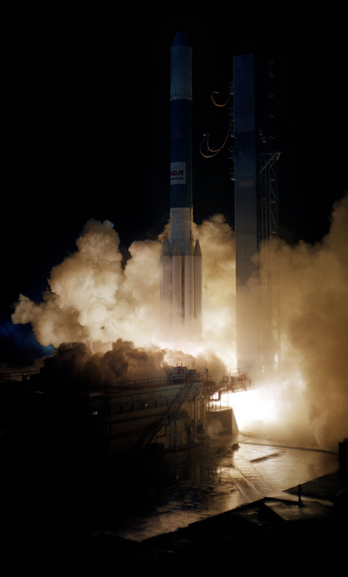 An RCA Satcom-3 communications satellite is launched aboard a Delta 150 launch vehicle from Complex 17