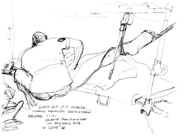 "Artwork: ""SSGT J.T. Turner"" Artist: Alvin Pimsler"