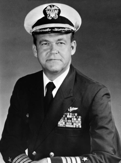 CAPT. Daniel A. Pederson, USN (covered) CO, USS RANGER (CV-61), 1980-1982