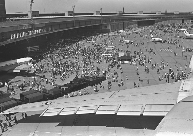 Berliners at Tempelhof Central Airport during Open House '80