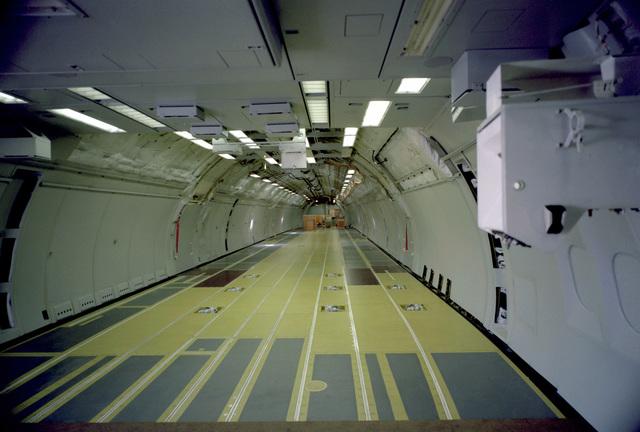 AN interior view of the KC-10A Extender aircraft upper deck