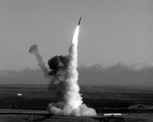 Launch of a Minuteman III intercontinental ballistic missile