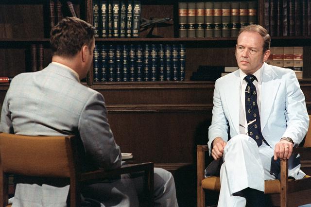 Assistant Secretary of Defense Jack R. Borsting participates in a media training seminar at the Pentagon