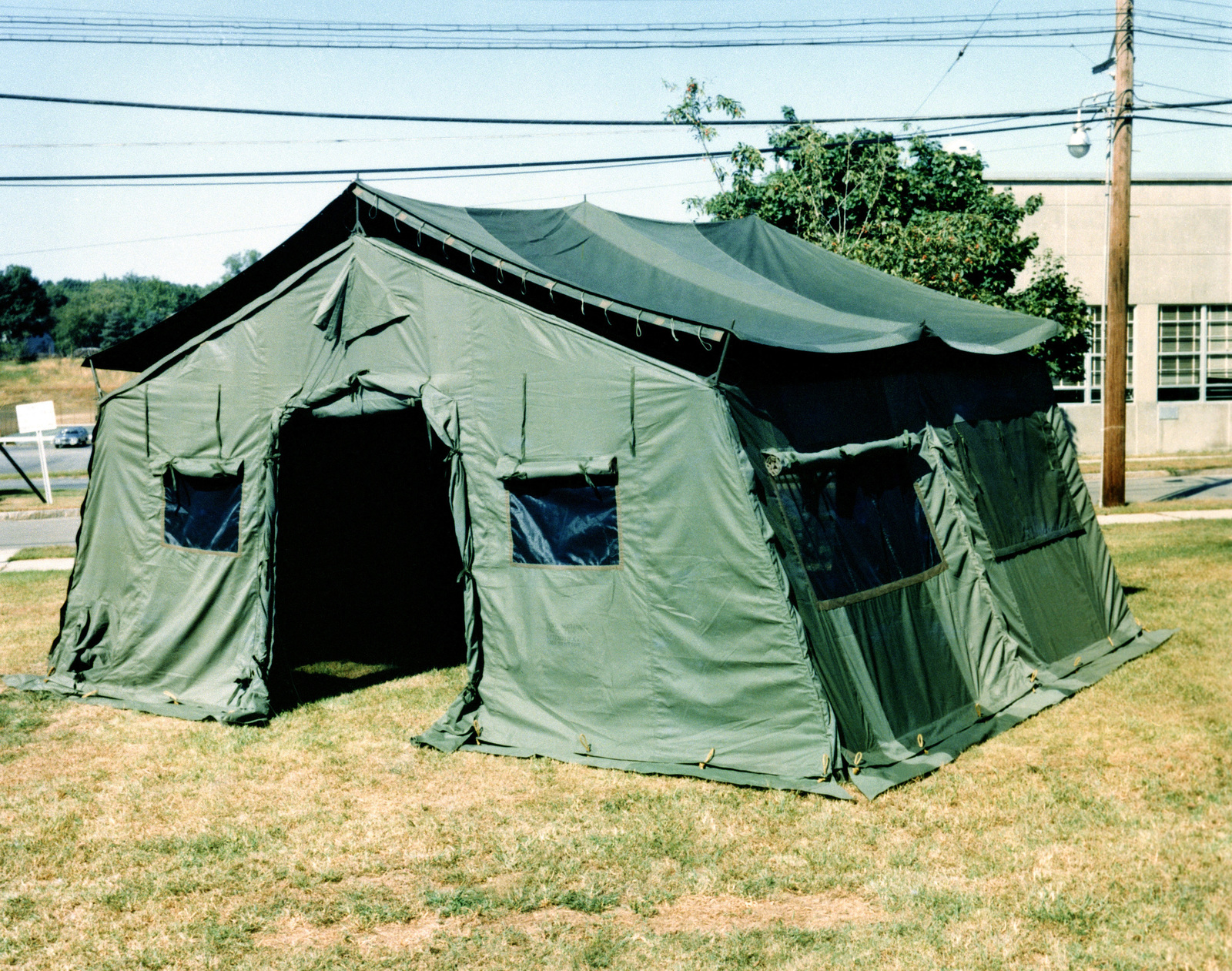 An extendable modular personnel tent (TEMPER) used as a command post