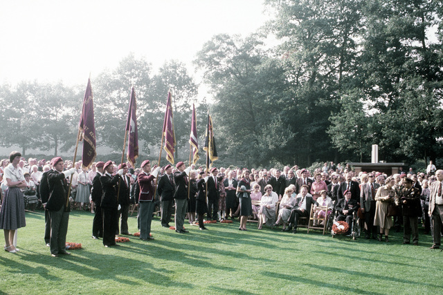 British flag bearers participate in the 36th Annual Remembrance of the Battle of Arnhem