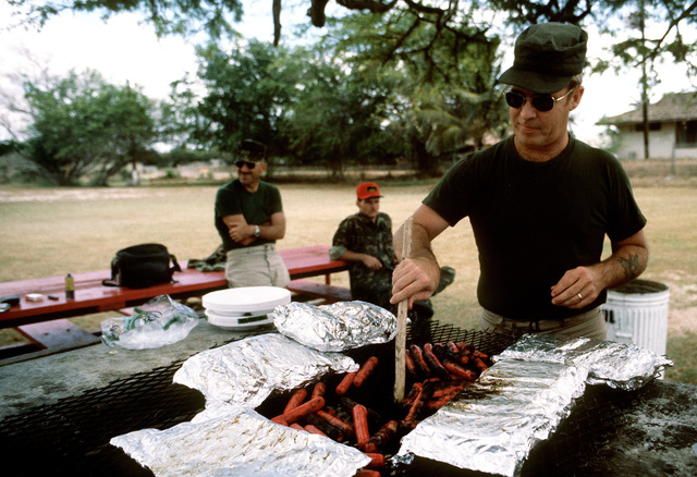 MSGT Adams makes lunch for the combat control team (CCT)