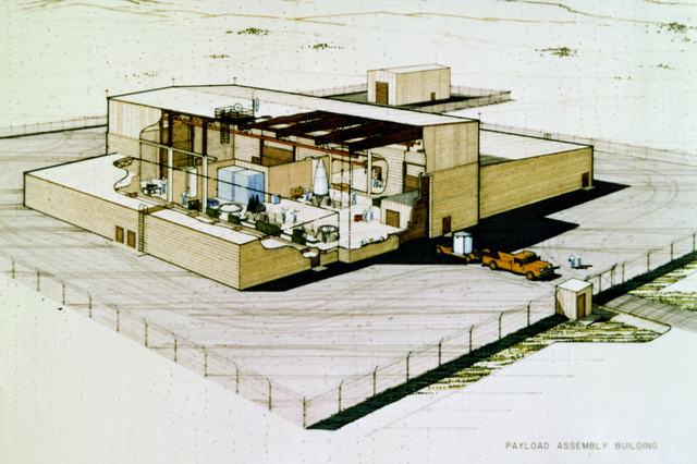 An artist's concept of the payload assembly building planned for the upcoming MX intercontinental ballistic missile program at Vandenberg Air Force Base, Calif