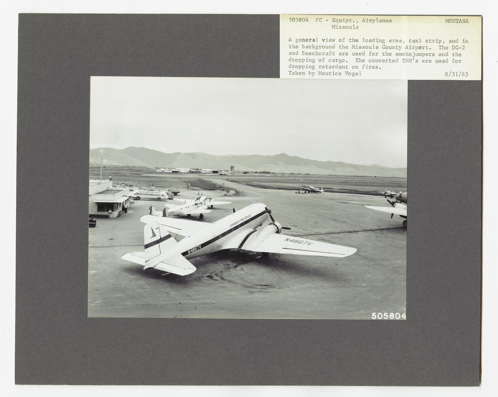 Aircraft and Airports - Montana - U S  National Archives