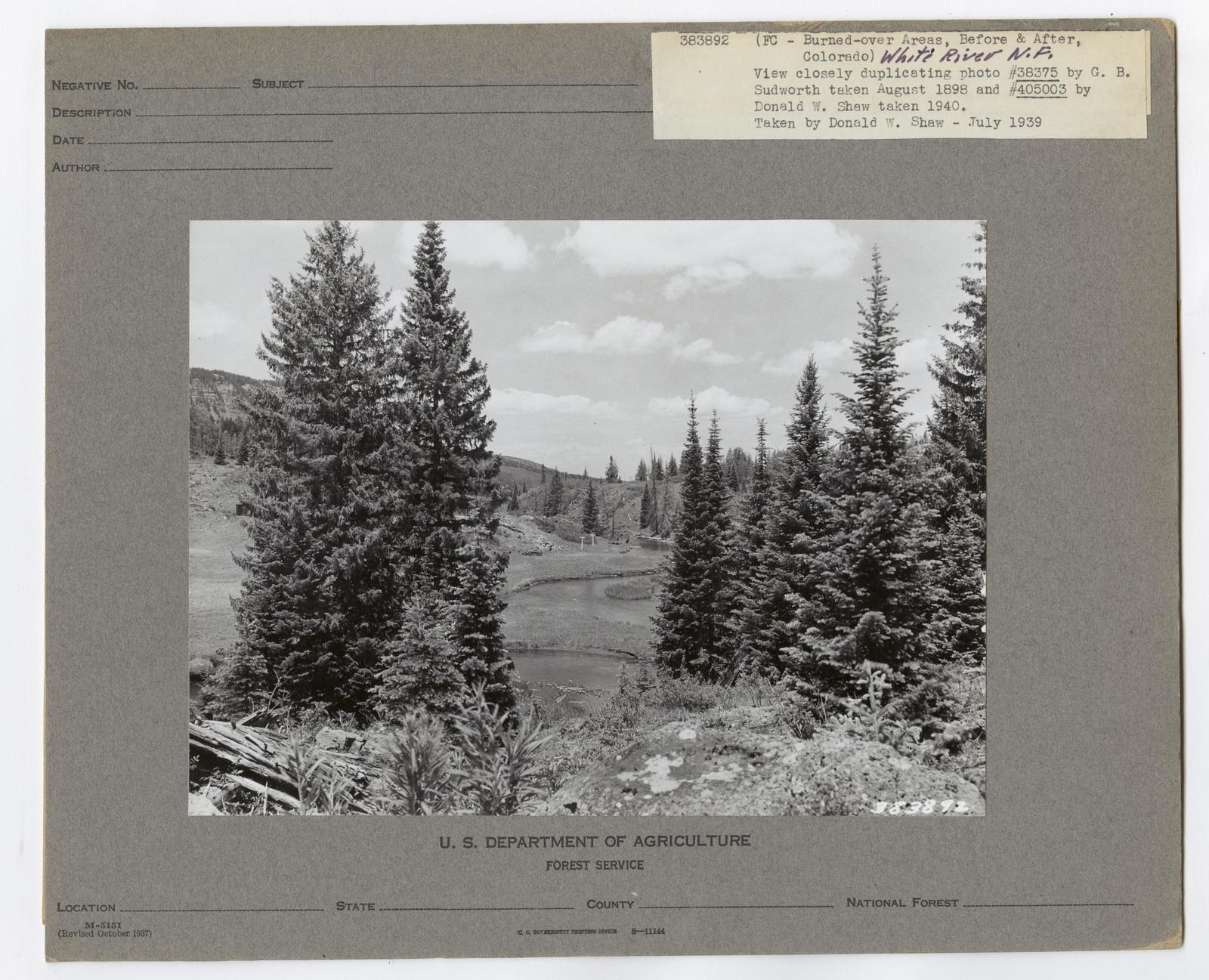 Burned -Over Areas - Camera Point - Colorado