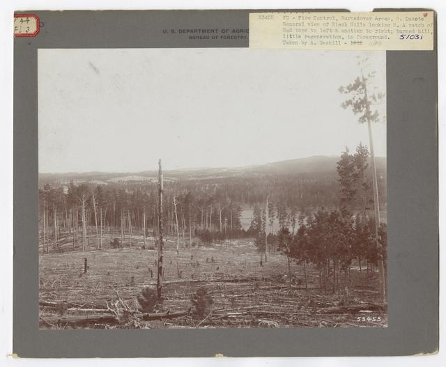 Burned -Over Areas - Camera Point - South Dakota