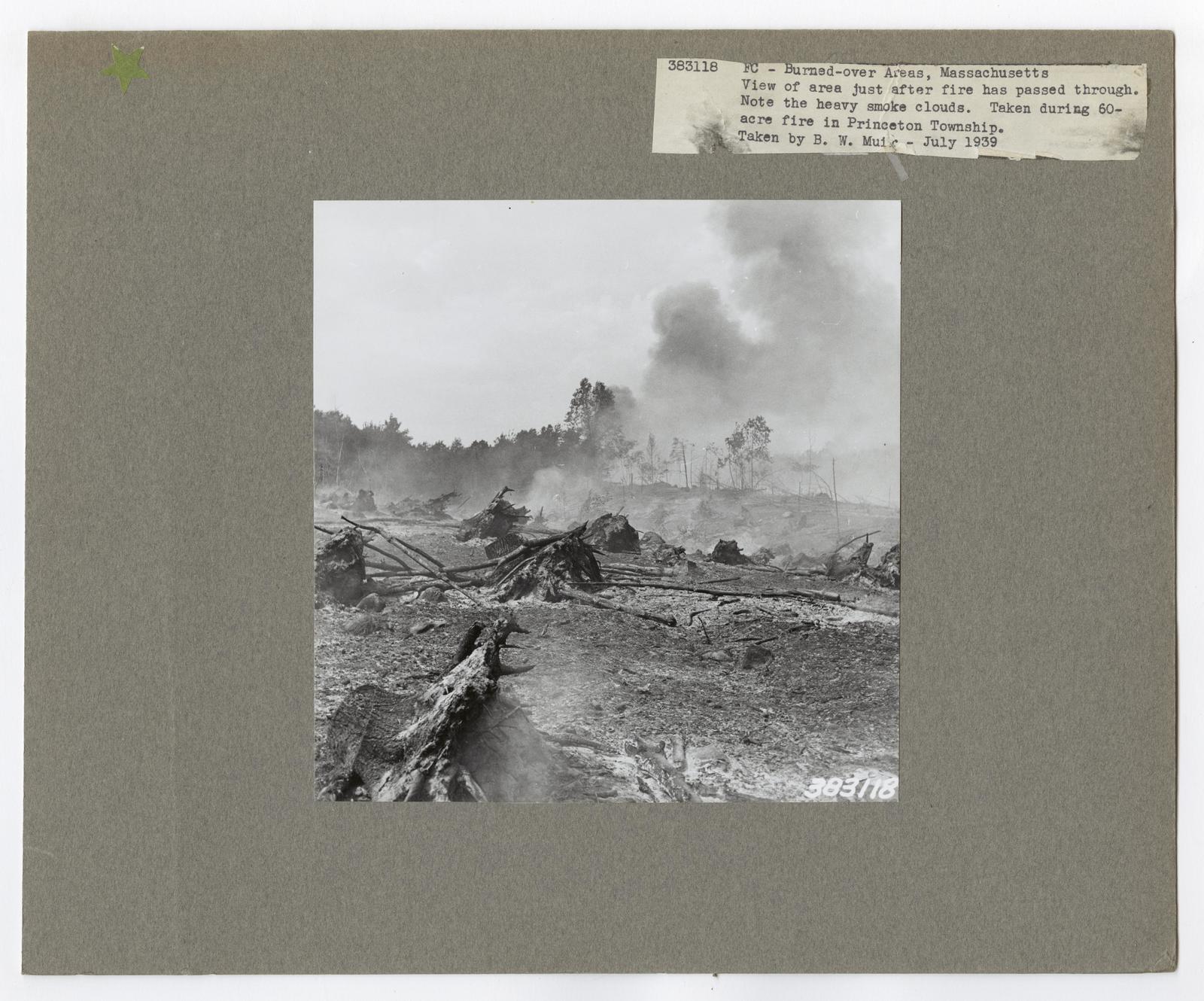 Burned -Over Areas - Massachusetts