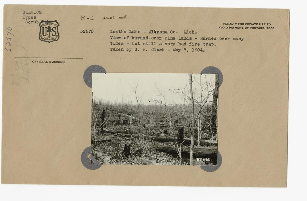 Burned Over Areas - Old Burns