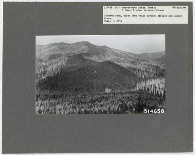 Burned -Over Areas - Washington