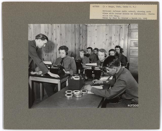Civilian Conservation Corps - Camps - Utah