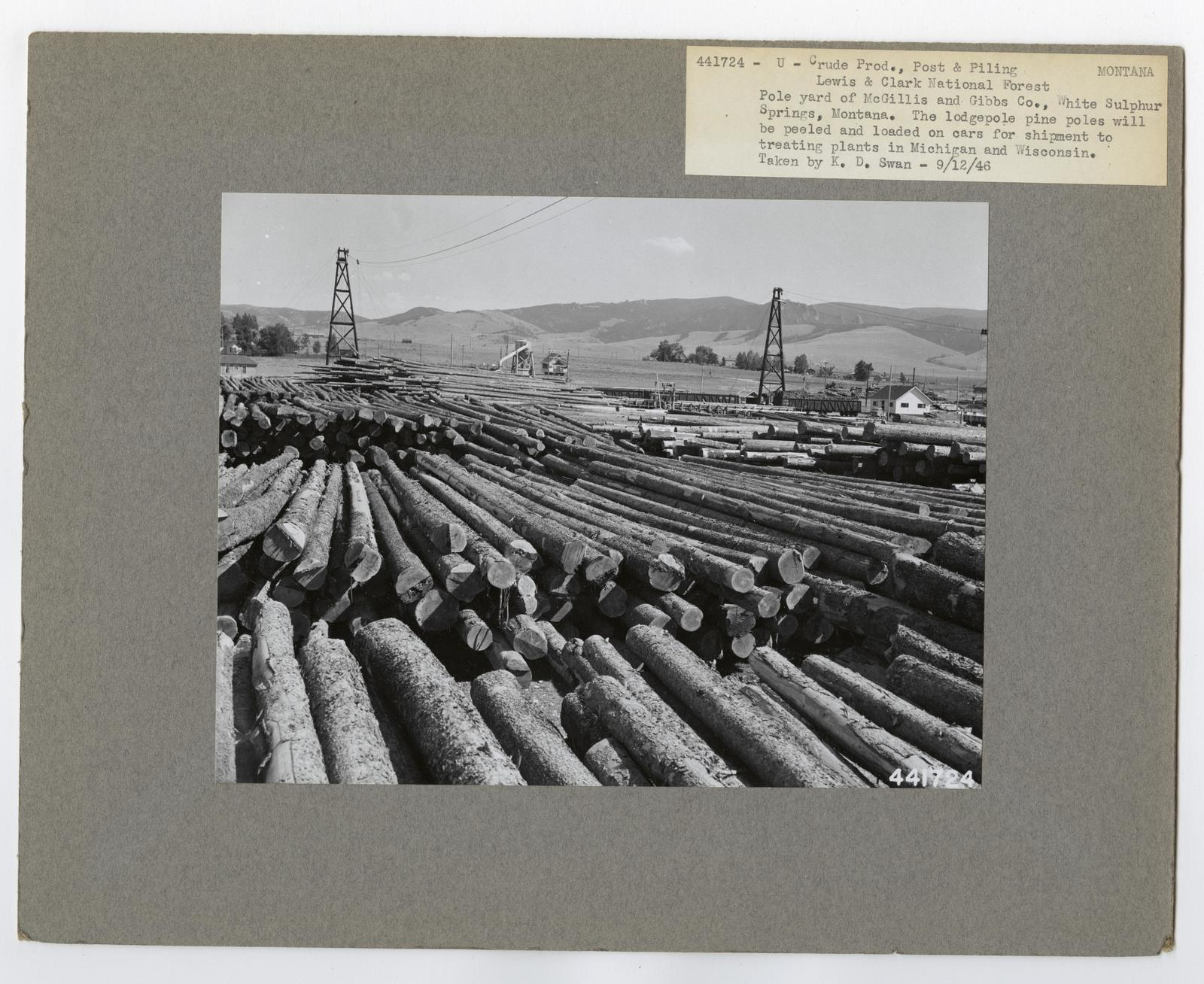 Crude Products: Ties and Mine Props. - Montana