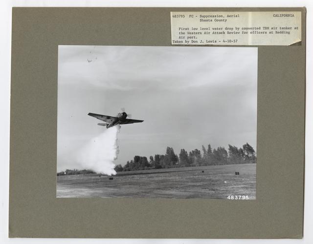 Fire Suppression: Aerial Slurry Drops - California