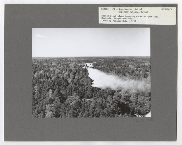 Fire Suppression: Aerial Slurry Drops - Minnesota