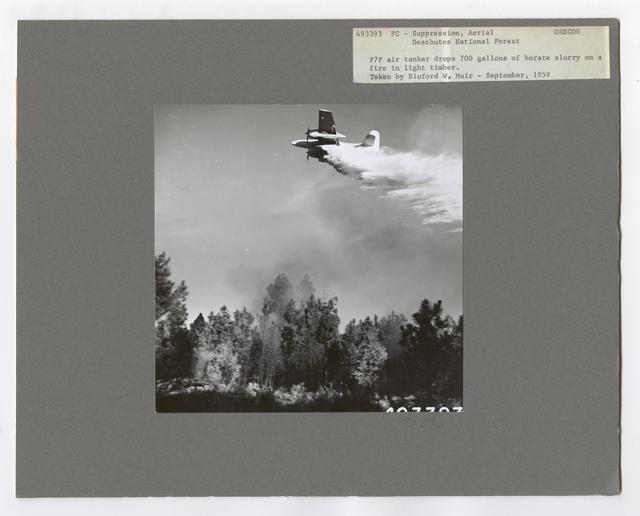 Fire Suppression: Aerial Slurry Drops - Oregon