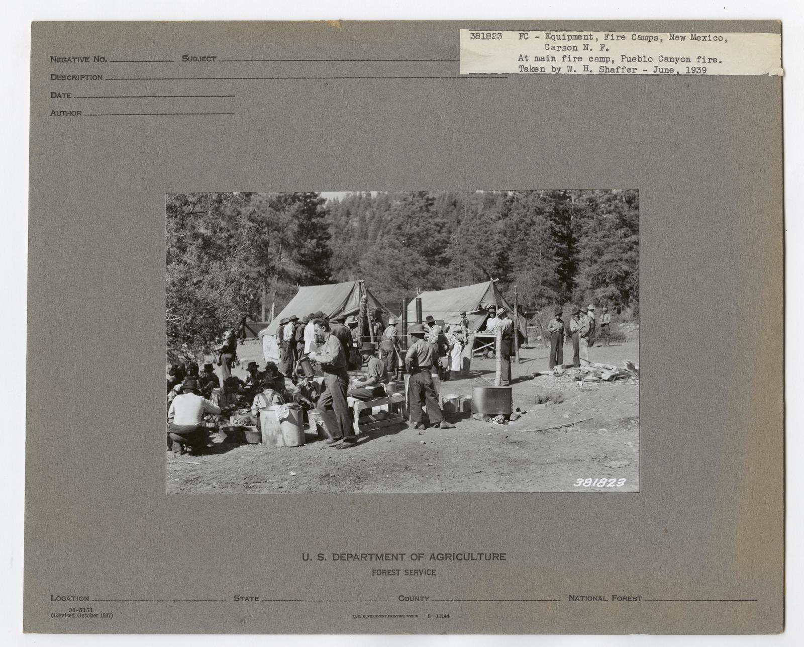 Forest Fire Camps - New Mexico