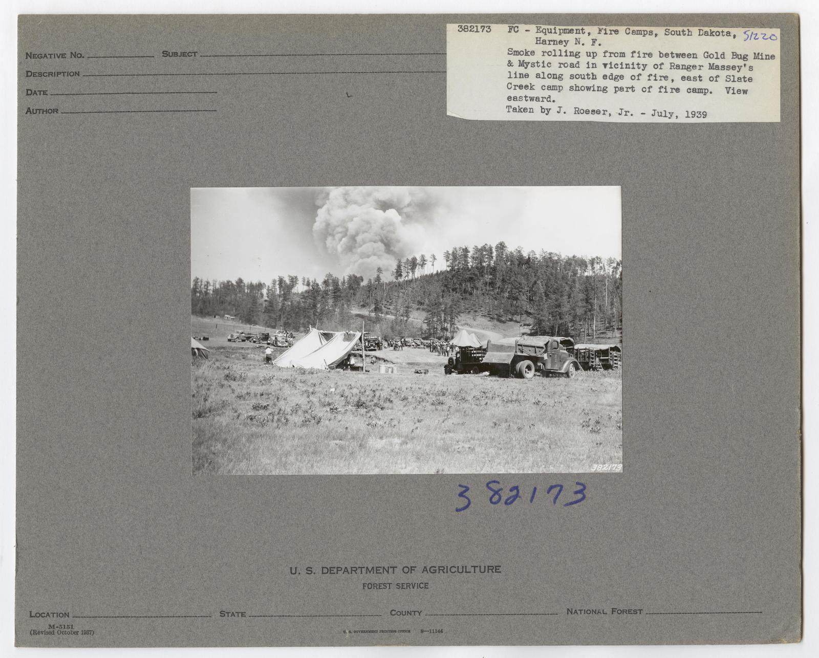 Forest Fire Camps - South Dakota