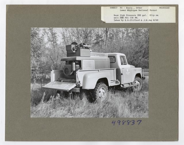 Forest Fire Equipment: Fire Trucks - Michigan