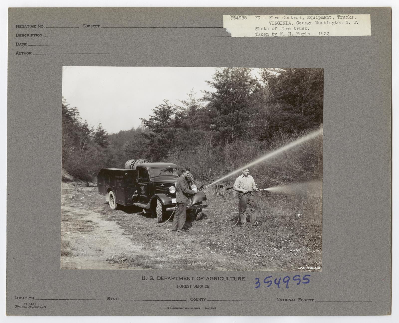 Forest Fire Equipment: Fire Trucks - Virginia