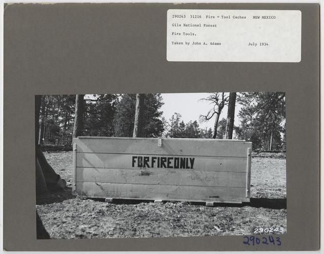 Forest Fire Equipment: Tool Caches - All States