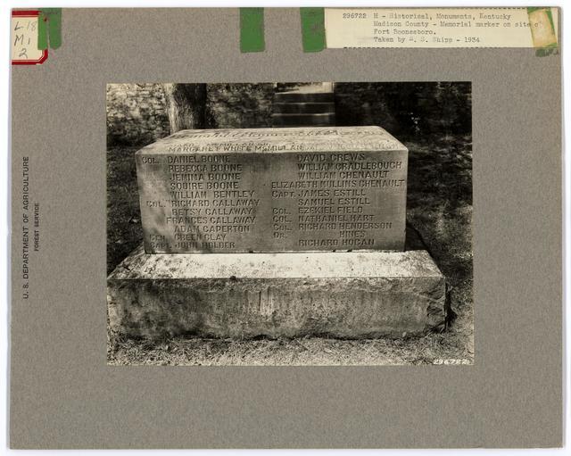 Historical Monuments - Kentucky