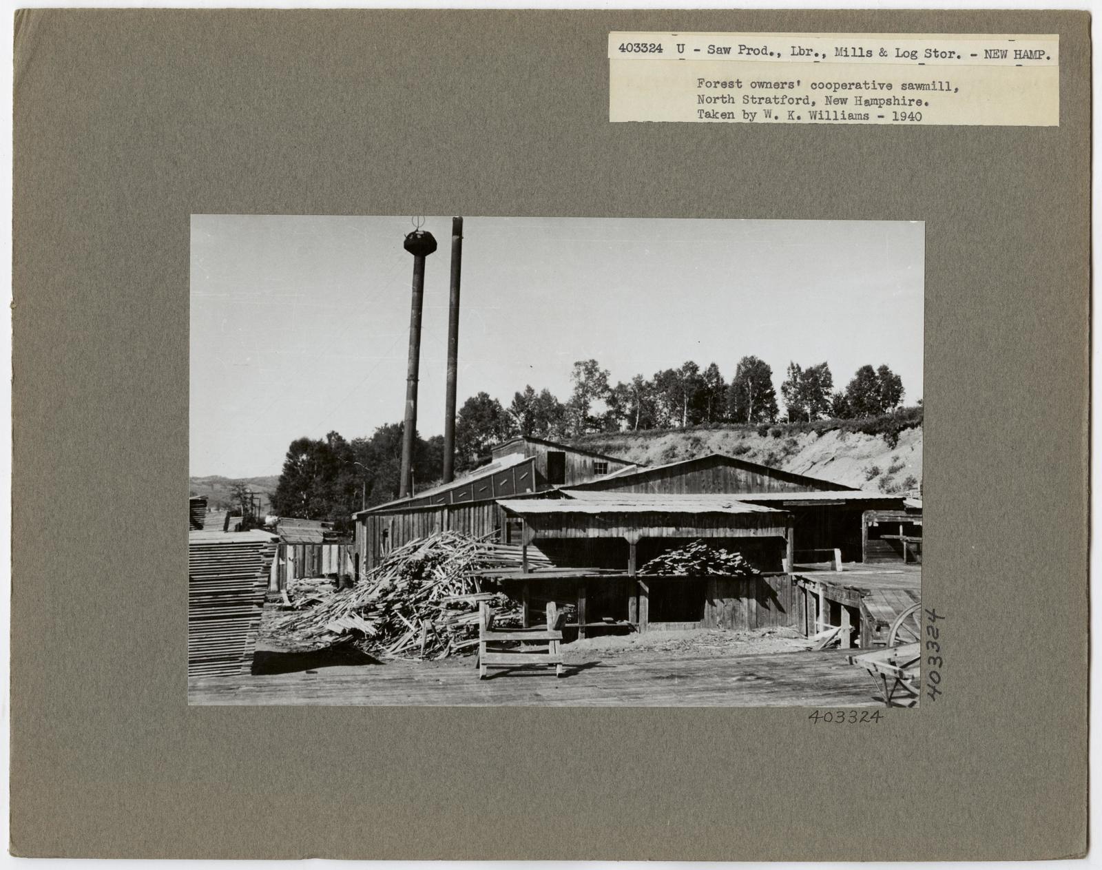 Large Sawmills - New Hampshire