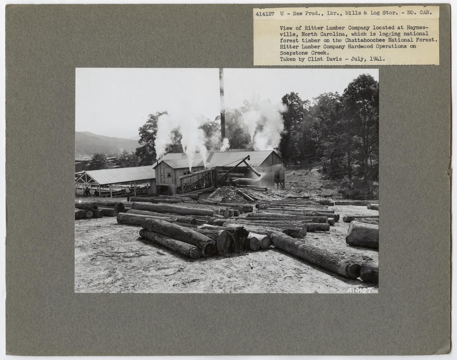 Large Sawmills - North Carolina