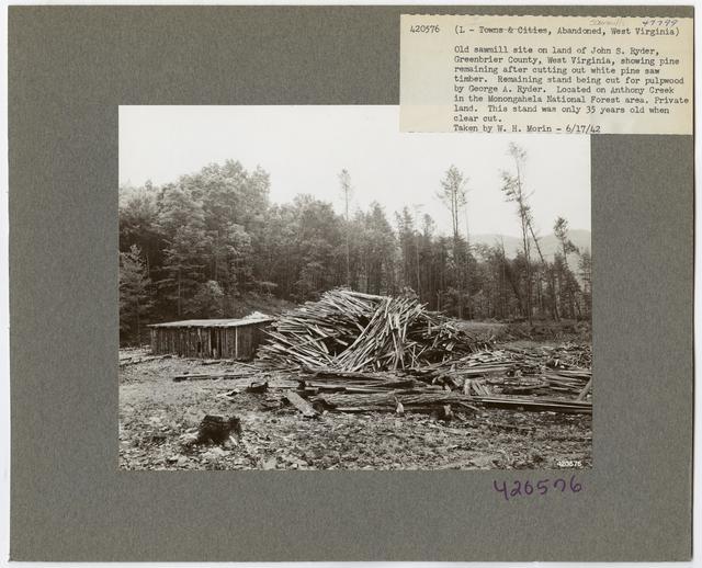 Large Sawmills - West Virginia