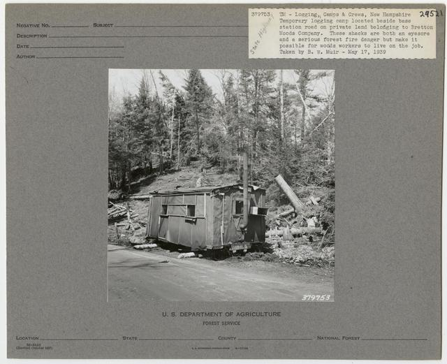 Logging Camps and Crews - New Hampshire