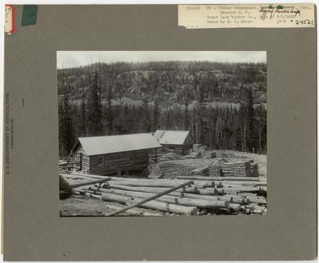 Logging Camps and Crews - Utah