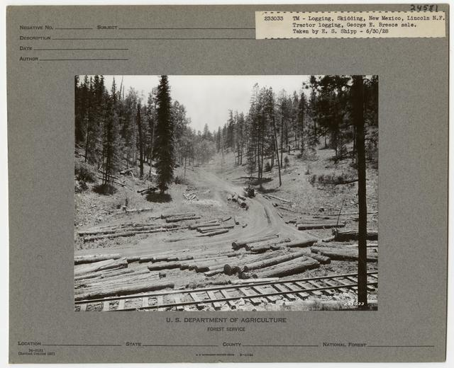 Logging: Skidding with Tractors - New Mexico