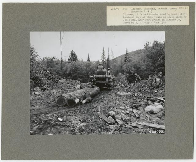 Logging: Skidding with Tractors - Vermont