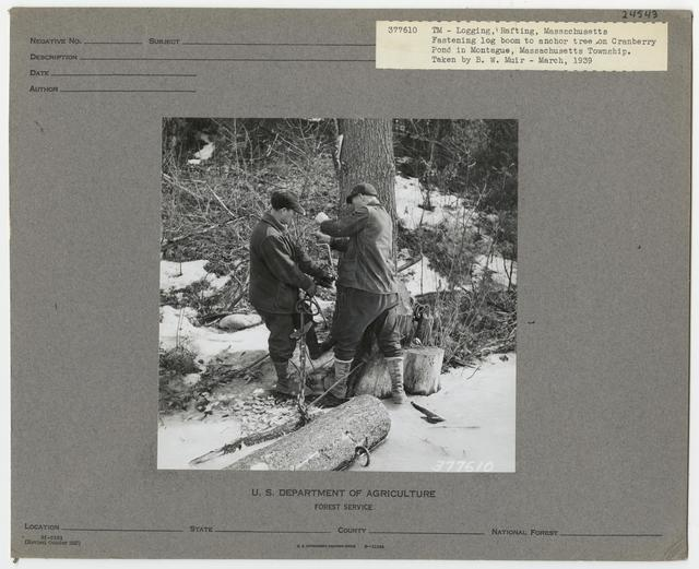 Logging: Transportation: Rafting - Massachusetts