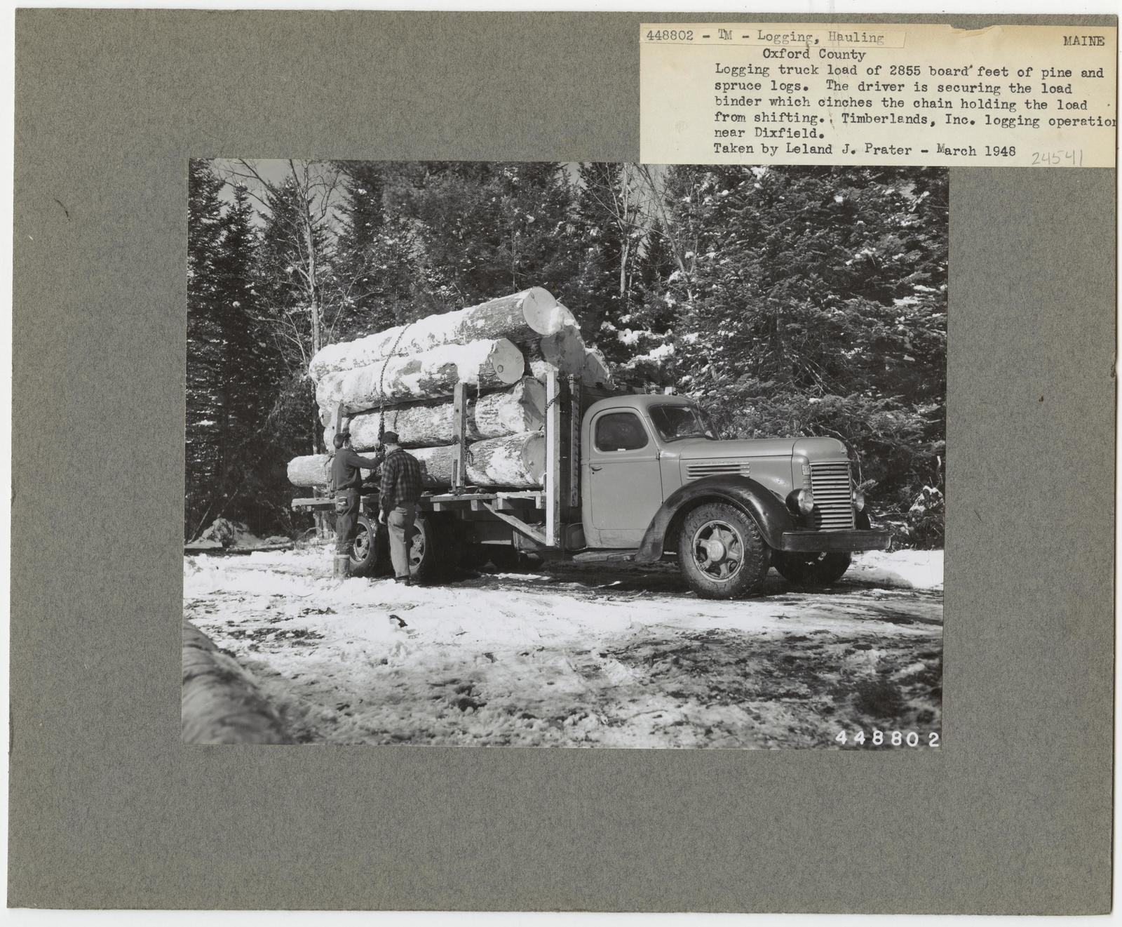 Logging: Transportation: Trucks - Maine