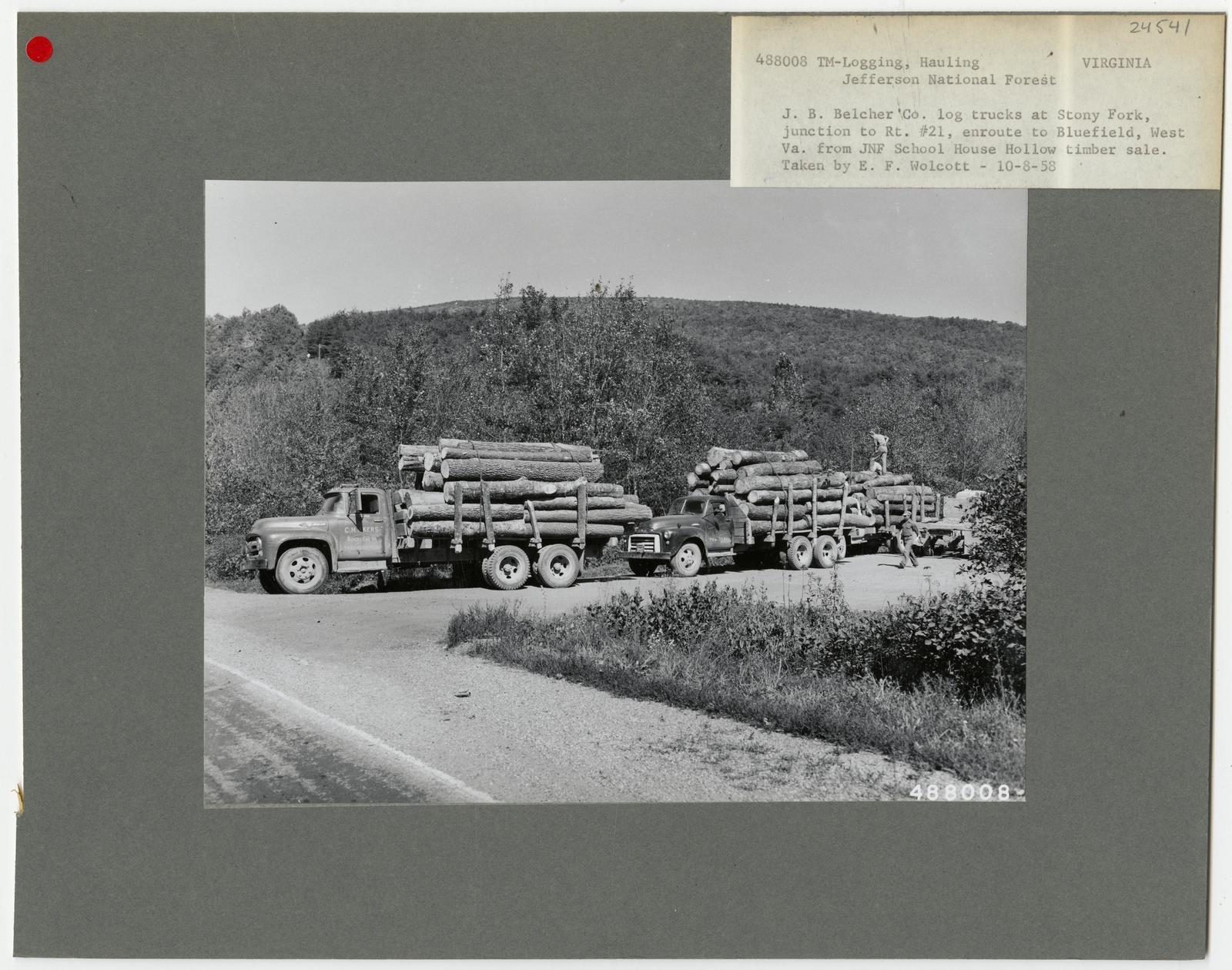 Logging: Transportation: Trucks - Virginia