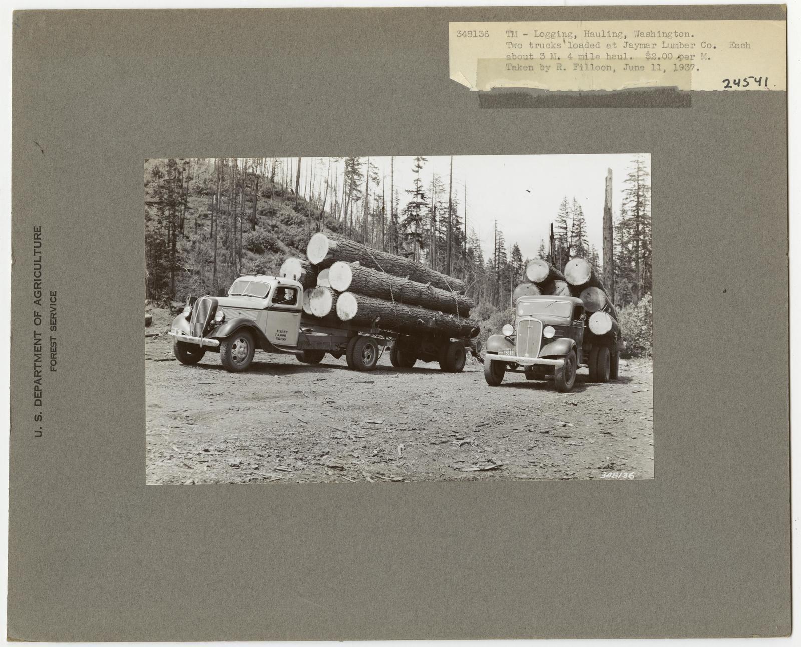Logging: Transportation: Trucks - Washington