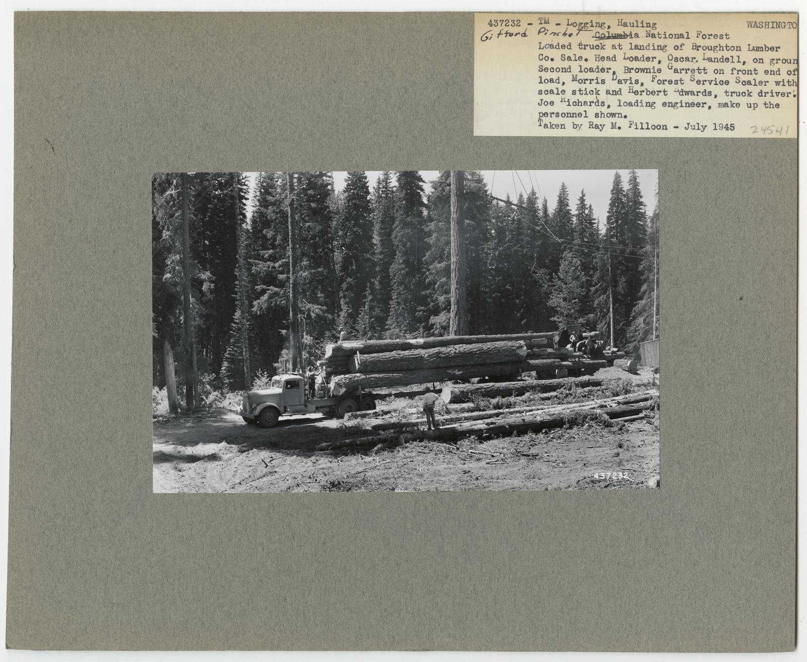 Logging: Transportation: Trucks - Washington