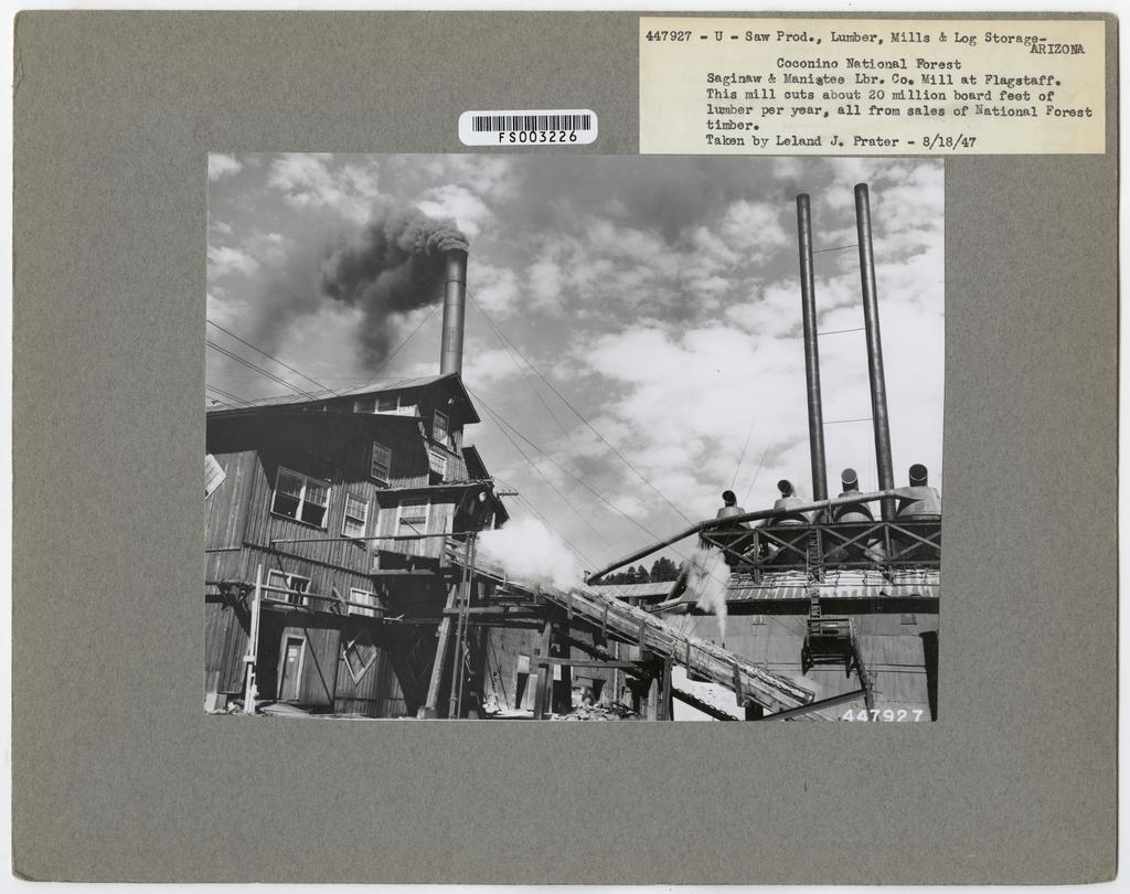 Mills, Milling and Log Storage - Arizona