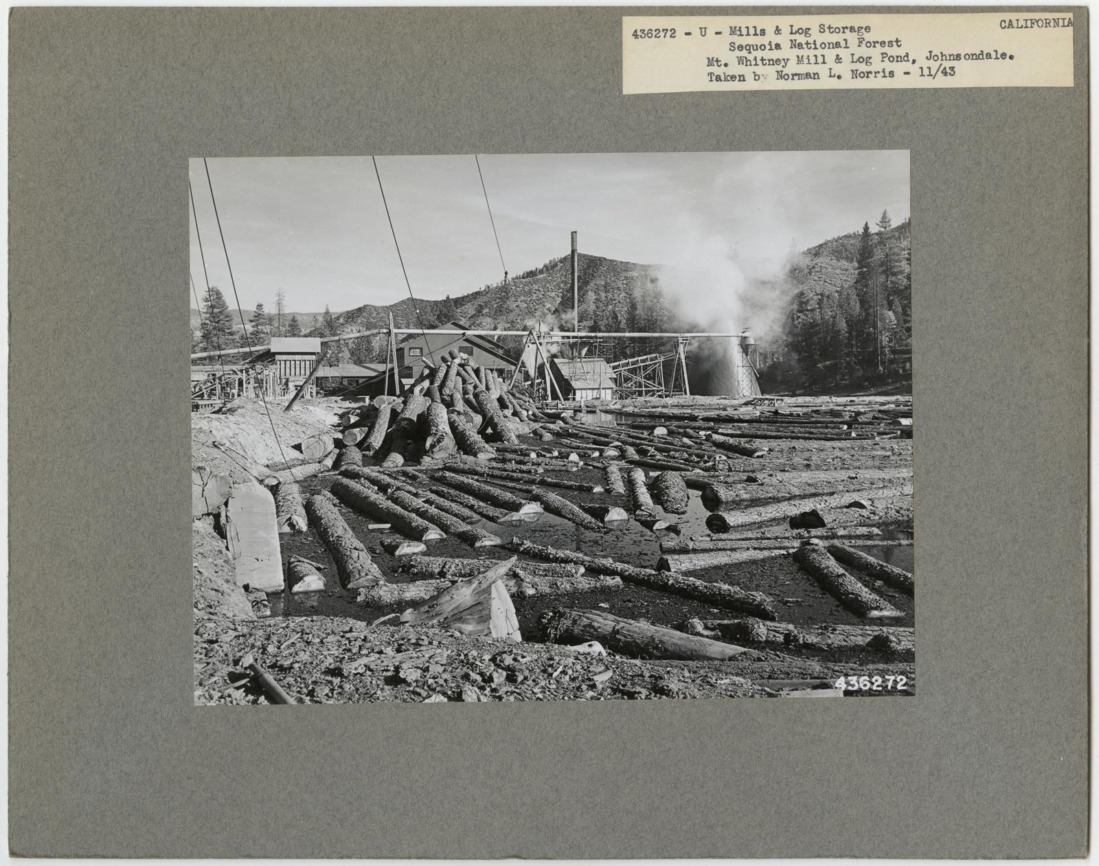 Mills, Milling and Log Storage - California